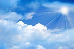 Ciel solaire Photographie stock