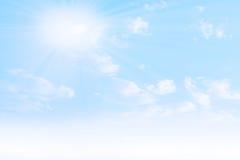 Ciel solaire Photographie stock libre de droits