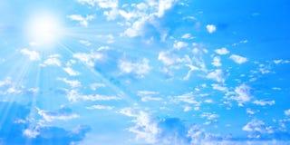 Ciel solaire Images stock