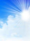 Ciel solaire Image libre de droits