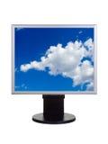 Ciel sur l'écran d'ordinateur Photographie stock