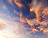 Ciel sur l'incendie Photo libre de droits