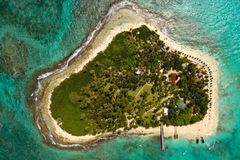 Ciel sur la mer des Caraïbes images libres de droits