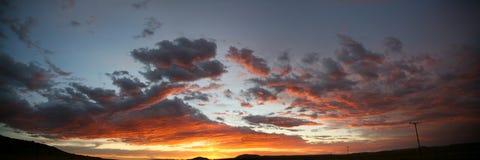 Ciel sur la route de maloti Photo libre de droits