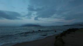 Ciel Vietnam de lapes de temps de baie de Nha Trang banque de vidéos
