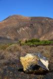 ciel volcanique h de pierre de roche de timanfaya image stock