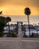 Cieli arancio in California del sud Fotografia Stock
