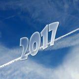 2017 cieli blu Fotografie Stock Libere da Diritti