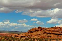 Cieli blu e nuvole Fotografia Stock