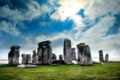 Cieli blu sopra Stonehenge fotografia stock libera da diritti