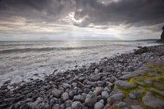 Cieli della tempesta di Lingua gallese Fotografia Stock Libera da Diritti