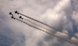 Cieli di Airshow Immagine Stock