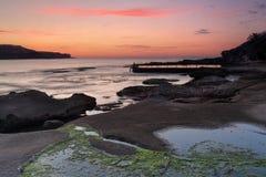 Cieli di alba a Malabar Immagini Stock Libere da Diritti
