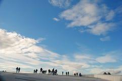 Cieli di Oslo immagine stock