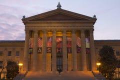 Cieli drammatici sopra il Museo di Arte di Philadelphia Immagini Stock