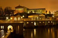 Cieli drammatici sopra il Museo di Arte di Philadelphia Fotografia Stock Libera da Diritti