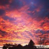 Cieli infernali Fotografia Stock Libera da Diritti