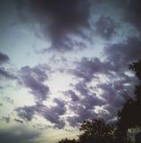 Cieli nuvolosi Immagini Stock Libere da Diritti