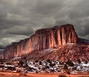 Cieli nuvolosi della valle del monumento Fotografia Stock