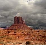 Cieli nuvolosi della valle del monumento Immagine Stock Libera da Diritti