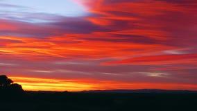 Cieli rossi Fotografie Stock