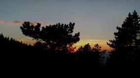 Cieli rossi Fotografia Stock