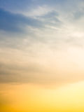 Cieli soleggiati luminosi prima della tempesta Fotografia Stock
