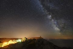 Cieli stellati sopra Lubenice Fotografia Stock Libera da Diritti