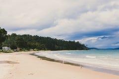 Cieli tempestosi di estate in Kingston Beach, Hobart fotografie stock