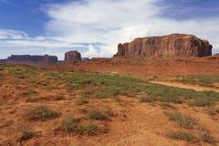 Cieli tempestosi sopra la valle del monumento, Arizona Fotografie Stock Libere da Diritti