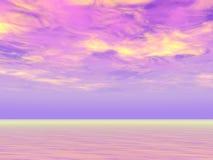 Cieli viola Fotografia Stock Libera da Diritti