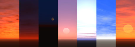 Cielo ilustración del vector