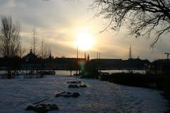 Cielo 2 del invierno foto de archivo