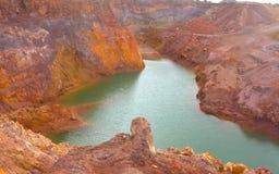 Cielo abierto mineral de la mina Imagen de archivo