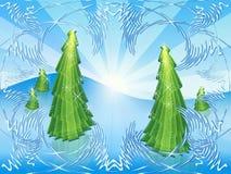 A cielo abierto verde Stock de ilustración
