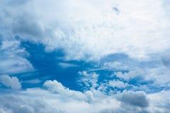 Cielo abstracto con las nubes Fotografía de archivo