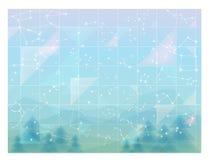 Cielo abstracto, papel pintado mínimo de las constelaciones ilustración del vector