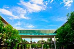 Cielo agradable en la universidad del centro de aprendizaje de Mahidol Fotos de archivo