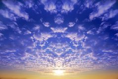 Cielo al tramonto Fotografie Stock