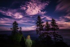 Cielo alla notte fotografia stock libera da diritti
