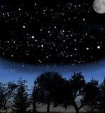 Cielo alla notte Fotografia Stock