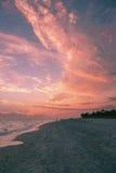 Cielo alto al tramonto Fotografia Stock