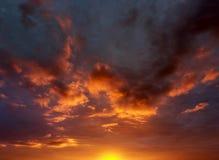 Cielo anaranjado imagen de archivo libre de regalías