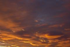 Cielo anaranjado Foto de archivo libre de regalías