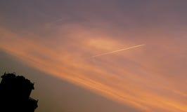 Cielo anaranjado Imagenes de archivo