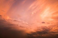 Cielo anaranjado Fotografía de archivo libre de regalías