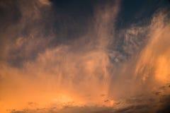Cielo anaranjado Imágenes de archivo libres de regalías