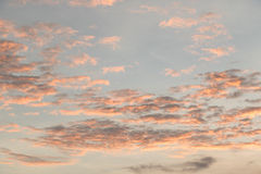 Cielo antes de la puesta del sol en Tailandia Imagenes de archivo