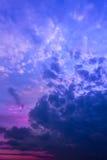 Cielo antes de la salida del sol Imagen de archivo