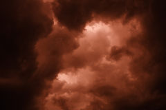 Cielo apocalittico Fotografie Stock
